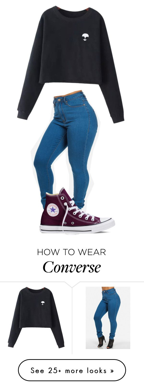 """""""Untitled #393"""" by shiane816 on Polyvore featuring mode, Chicnova Fashion et Converse"""