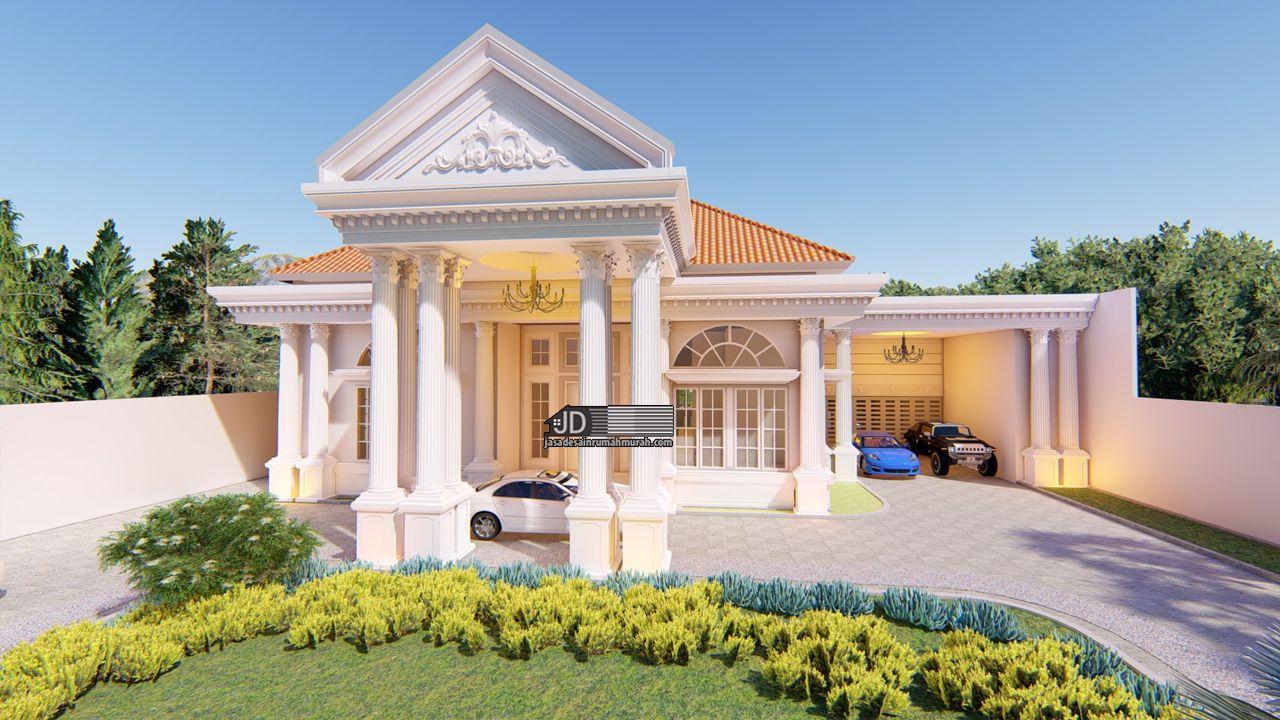 Jasa Arsitek Rumah Mewah - Eropa Klasik 1 Lantai Bapak Kennedy Di Medan -  Jasa Arsitek Desain Rumah Murah Online Terbaik 2021 | Desain Eksterior Rumah,  Rumah Bergaya Mediterania, Arsitektur Rumah