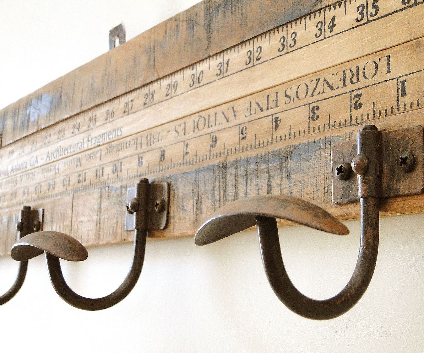 Beautifully Aged Wood With Gorgeous Big Rounded Coat Hooks It Will Give You Pleasure Every Time You Use It Each One Looks Slightly D Aging Wood Hook Rack Hook