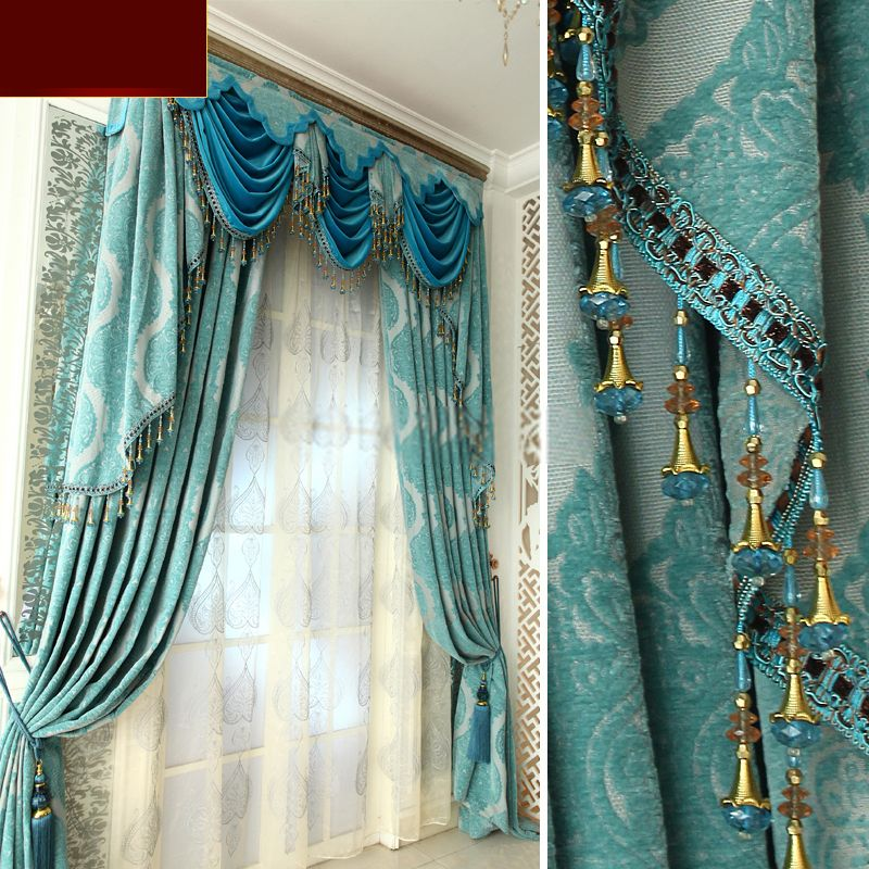Best Luxury Living Room Curtains And Drapes In Baby Blue Color 640 x 480