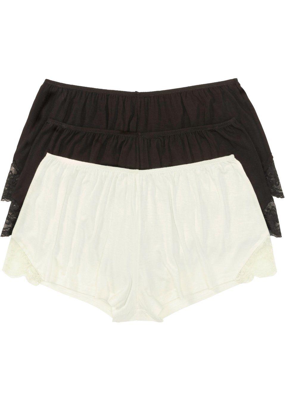 Se nu Moderiktigt lediga och avslappnade boxertrosor med spetsinfällning i  sidan och en smal resår b4dd8aa1545ec