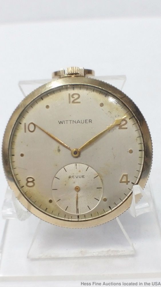 d352b8c3f68 Wittnauer Longines 17 Jewels Revue Gold Filled Men s Pocket Watch For Parts   Wittnauer Relógios Antigos