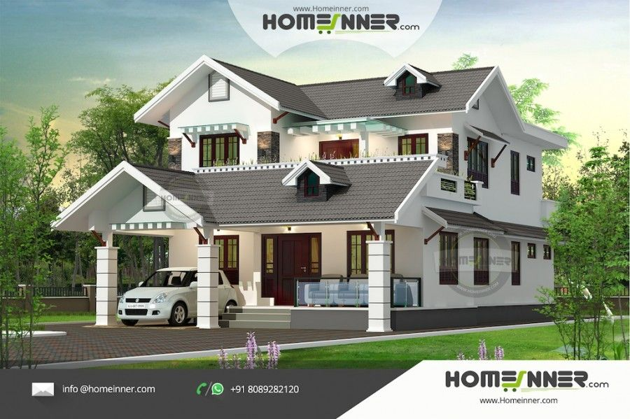 2300 Sq Ft House Plans India With Four Bedrooms With Images Kerala House Design Luxury Villa Design House Design
