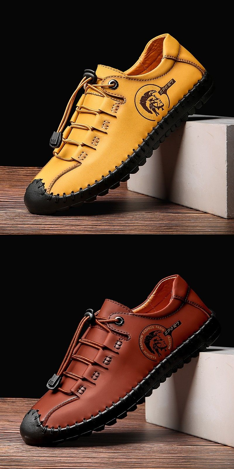 Prelesty Summer Men Dress Shoes Formal Handmade Comfortable Genuine Cow Leather Driving Cool