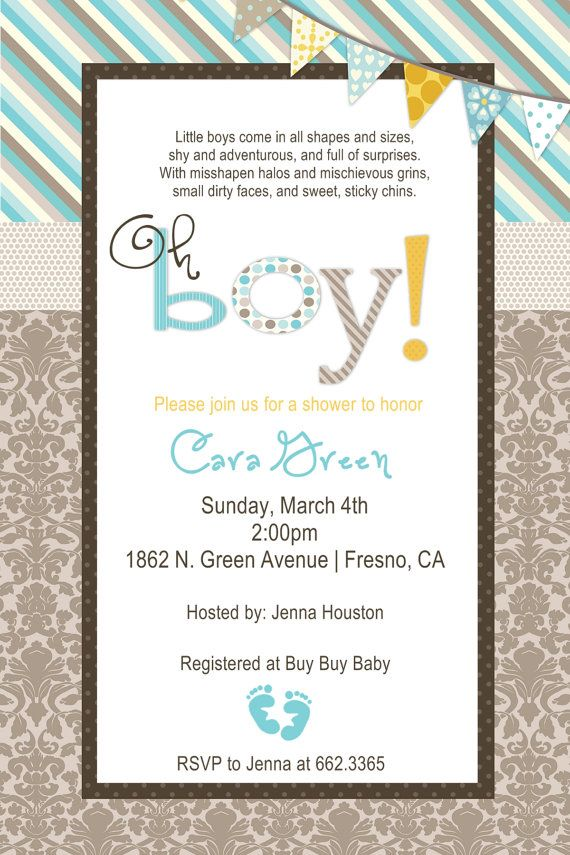 Baby Boy Owl Baby Shower Invitation | Baby shower | Pinterest ...