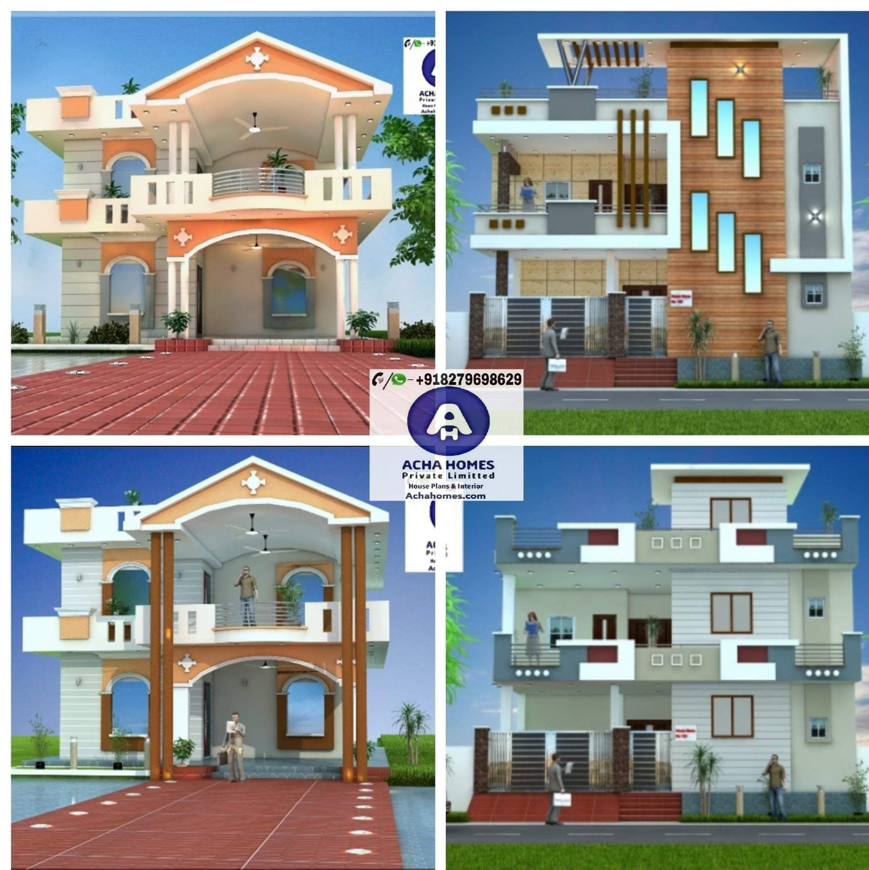 Pin By ACHA HOMES On 3D Front Modern Home Elevation Design