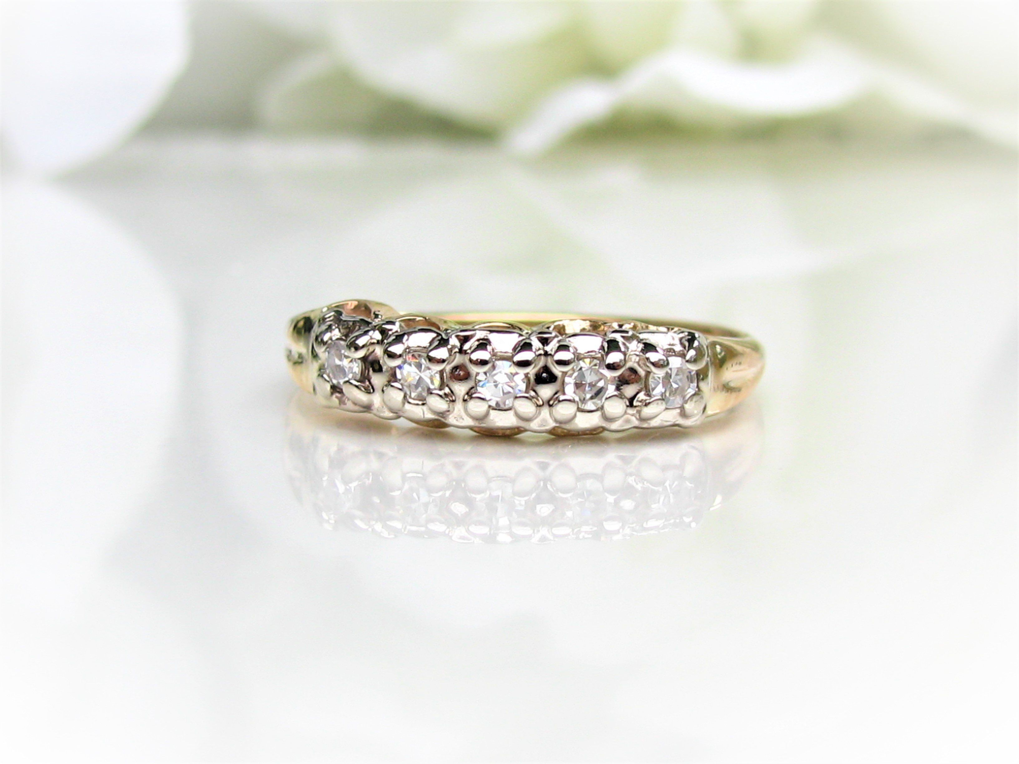 daussi henri band and diamond white wedding in gold bands tw