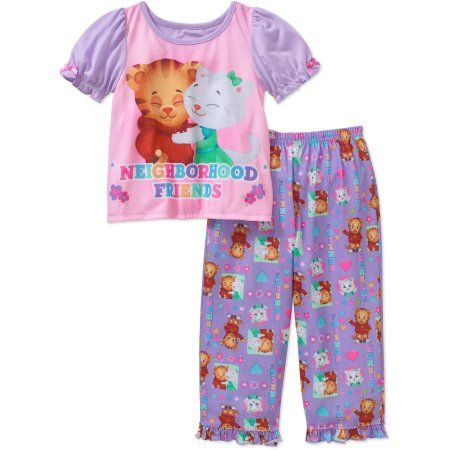 Daniel Tiger Toddler Girls' Short Sleeve Pajama Set, Girl's, Size: 25 Months, Purple