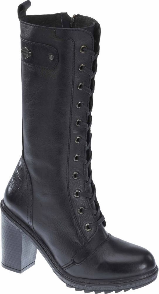 0f7a0a78f957b5 Harley-Davidson® Women s Lunsford Black Leather Fashion Boots. Biker-chic  appeal without the bike. When it s time to make a Harley® fashion  statement