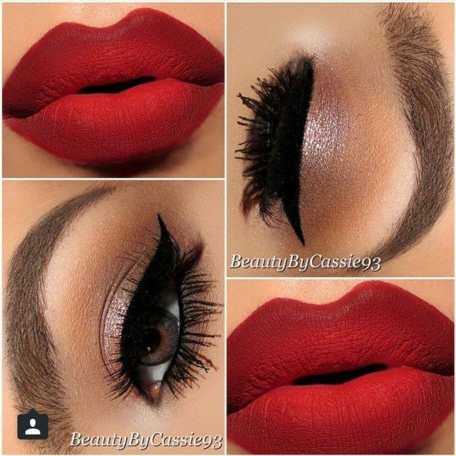 21 Looks: Eye Makeup for Red Lips