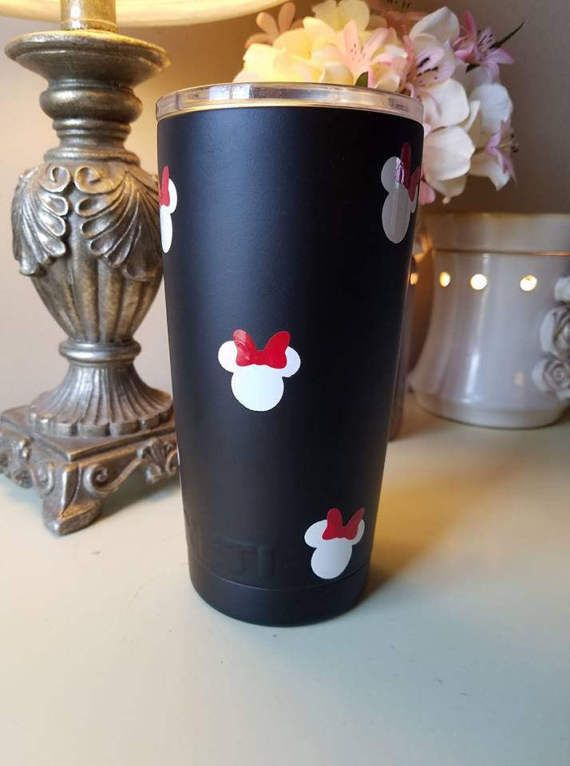 877ba9b29d1 Powder Coated Yeti Rambler Tumblers, Cups, Colster, and Lowball / Colored  Yeti Cup / Perfect Wedding Gift Minnie Mouse Inspired