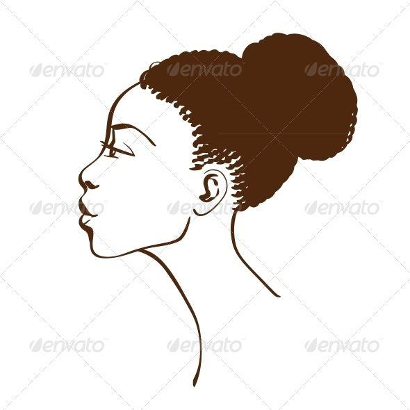 Art african facial profile
