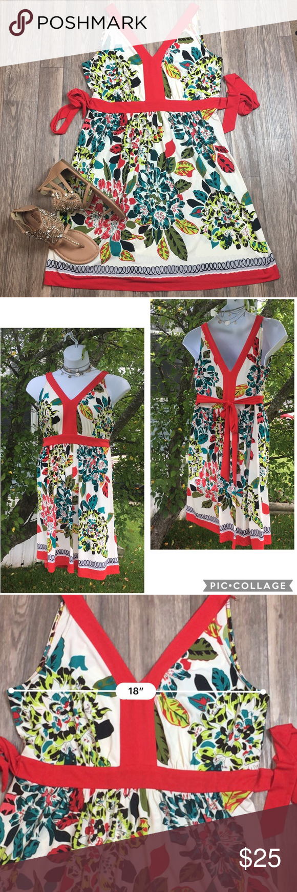 Ritz Ali Red Floral Summer Dress Size 12 Red Floral Dress Summer Floral Dress Summer Summer Dresses [ 1740 x 580 Pixel ]