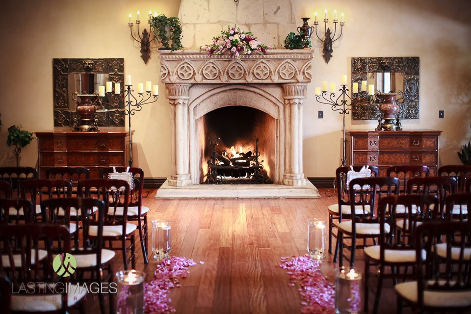 Plan B Ceremony By Fireplace Beautiful Indoor Wedding