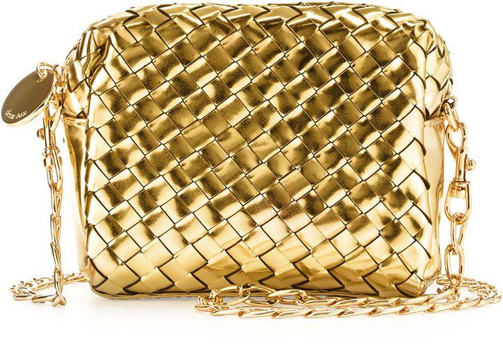 Deux Lux Sunset Mini Woven Crossbody Bag, Gold on shopstyle.com