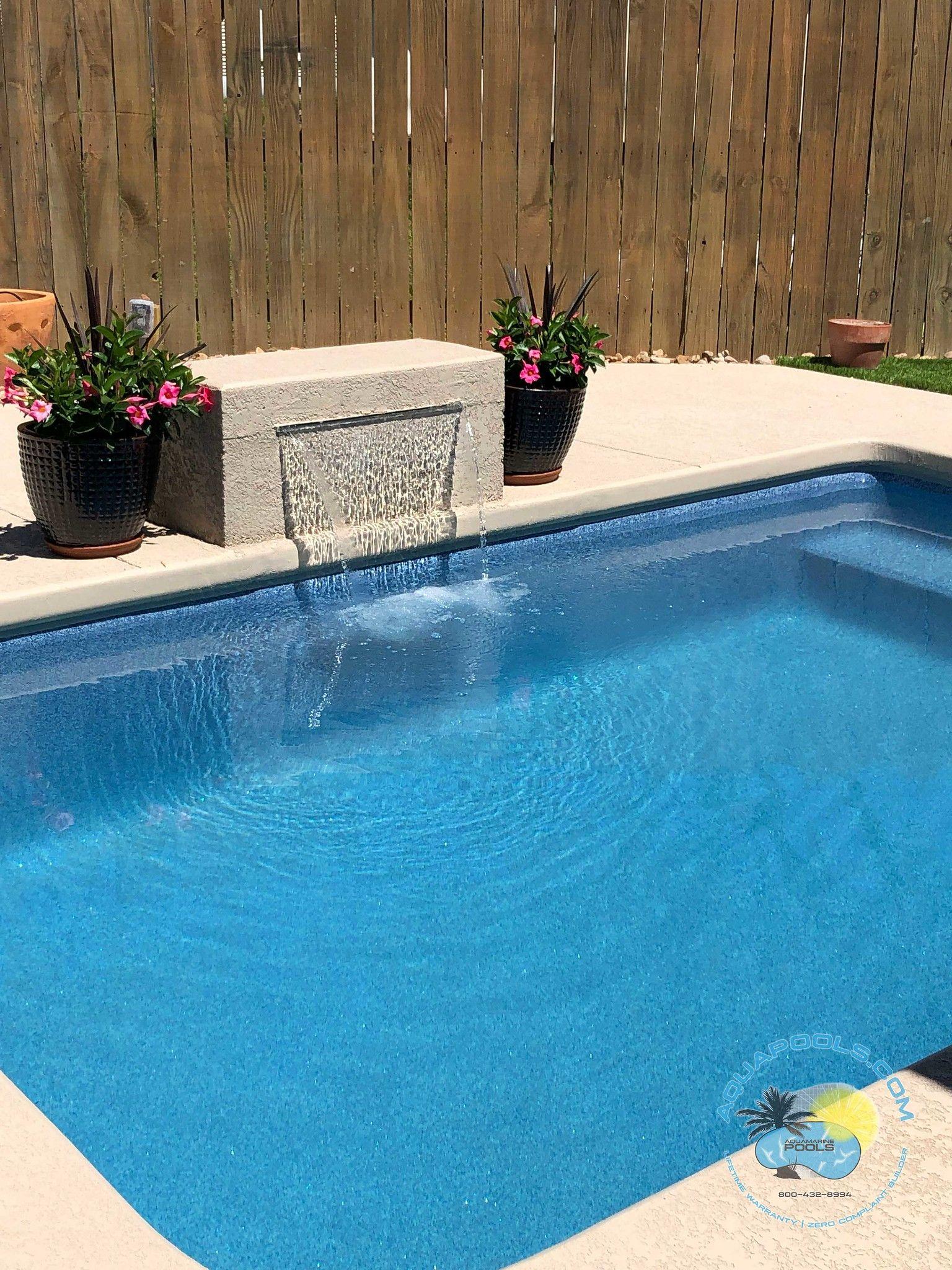 Aquamarine Pools Tropicana Sapphire Blue Fredericksburgtx 0419 2 Water Feature Wall Pool Pool Designs