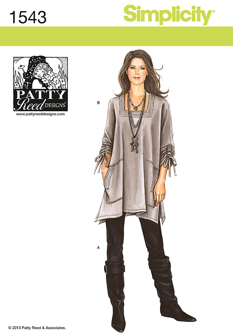 Simplicity 1543 Misses\' Tunic & Knit Pants by Patty Reed | Costura ...