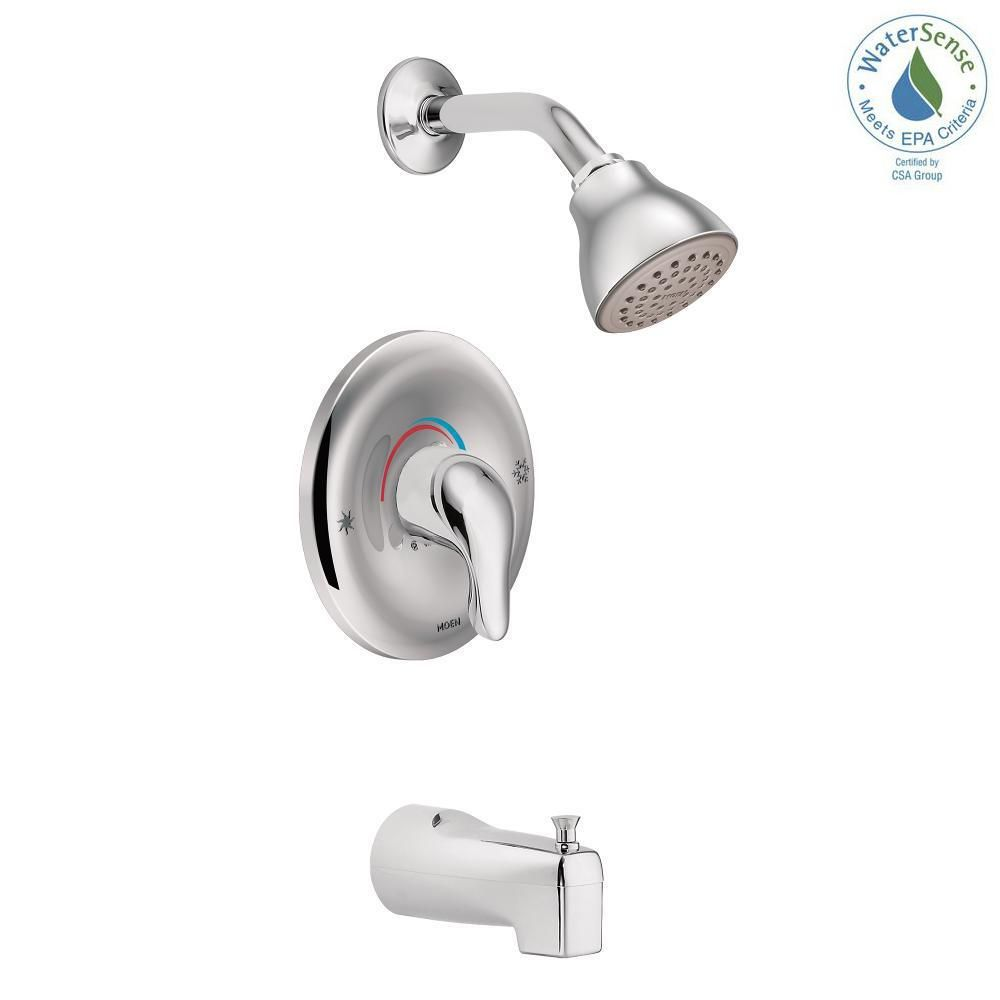 Moen Chateau Single Handle 1 Spray Posi Temp Tub And Shower Faucet