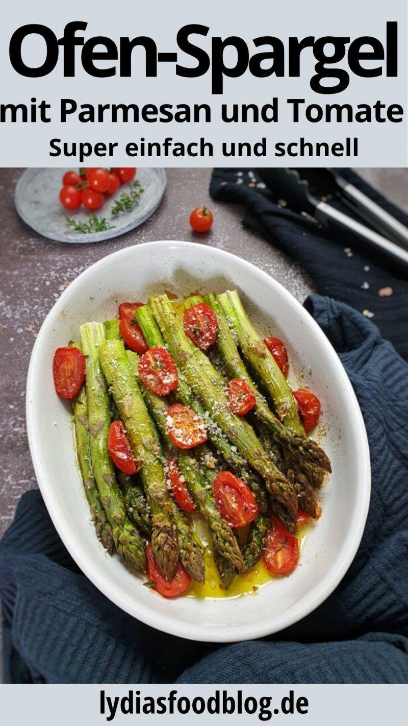 Grüner Spargel aus dem Ofen, mit meinem super einfachen Rezept zeige ich dir, w…