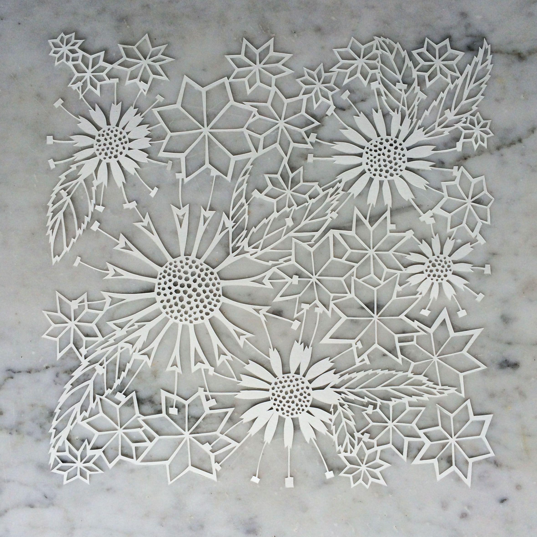 Facets Flowers Original Papercut Flower Cut Paper And 3d