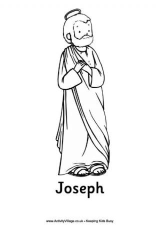 Nativity Colouring Pages - Joseph | Kids church | Pinterest ...