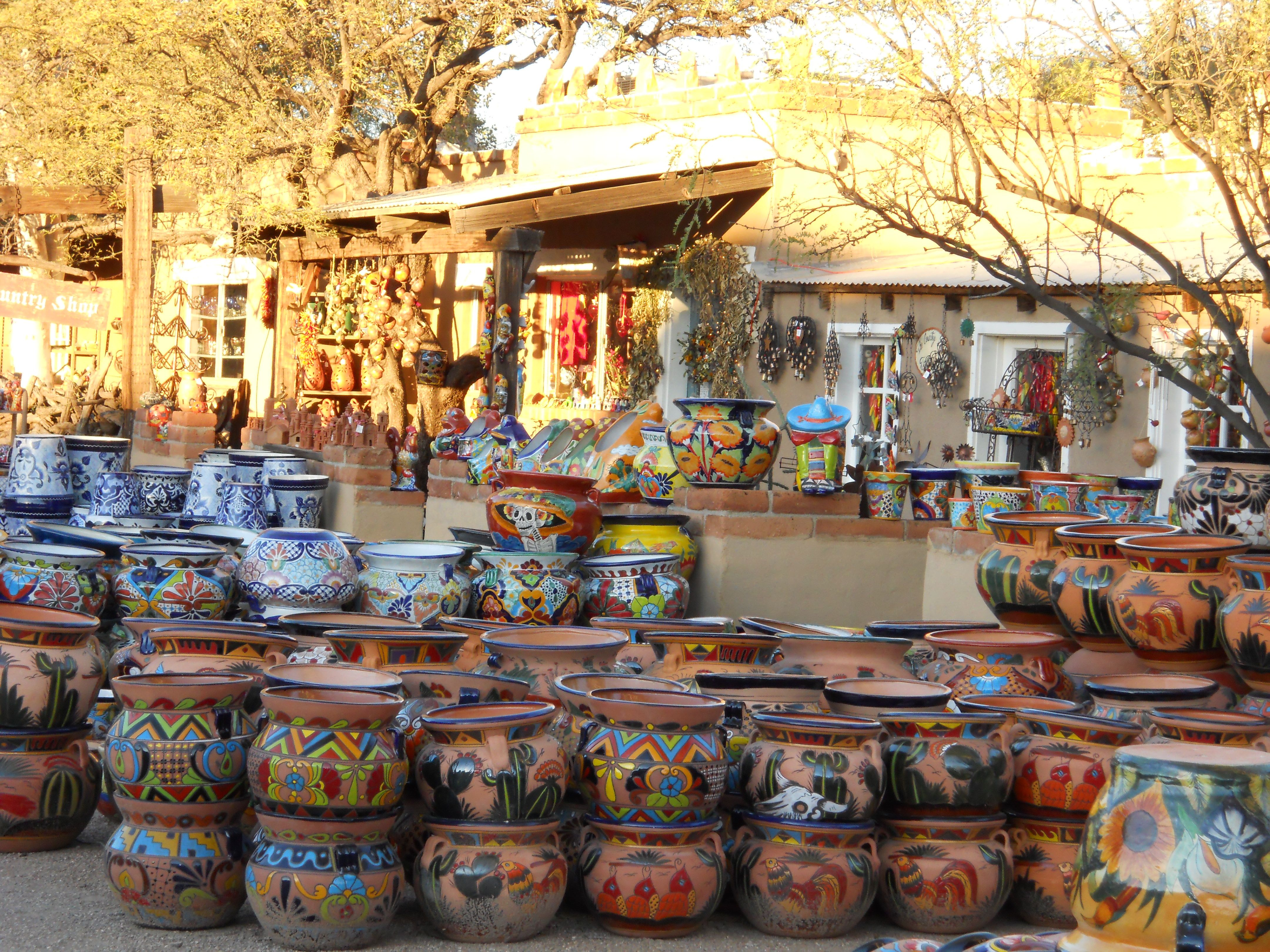 Mexican pottery and tin works Tubac AZ