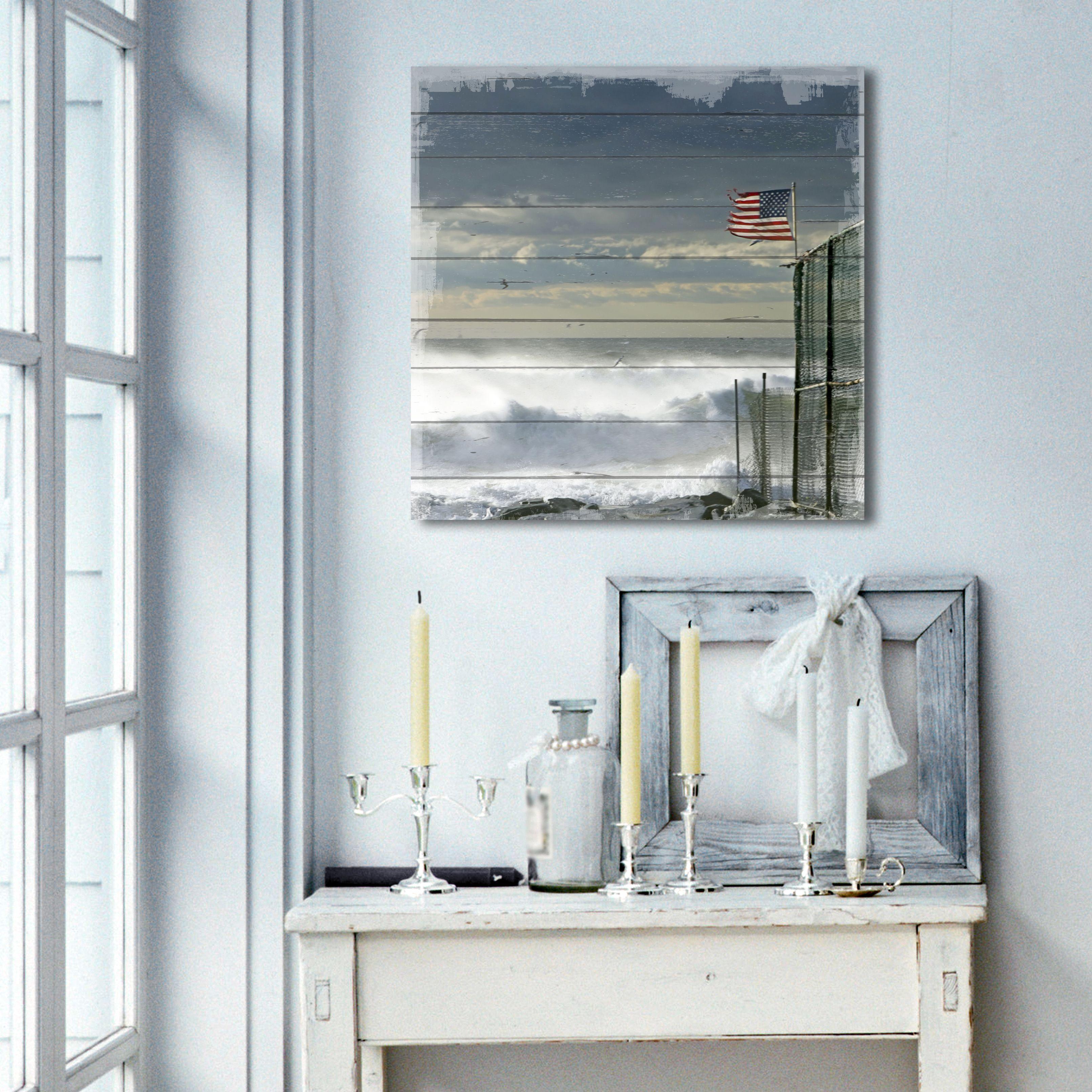 Vintage Cuadros Lifestyle Wandbild aus Holz Rose Shabby-Look Gr/ö/ße:ca 50x50 cm Geschenk Holzbild Landhaus