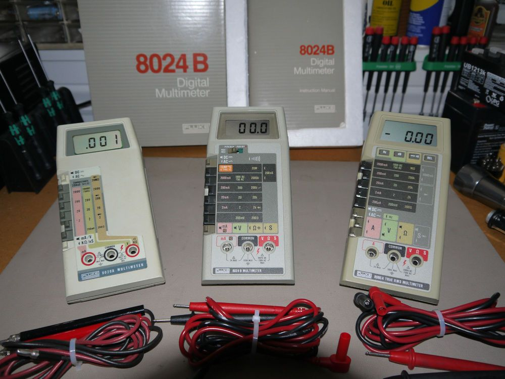 Vintage Fluke 8020A, 8024B, and 8060A Multimeters | Electrical