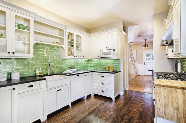 8 cocinas con azulejos verdes esmaltados · 8 green tiled kitchen ...