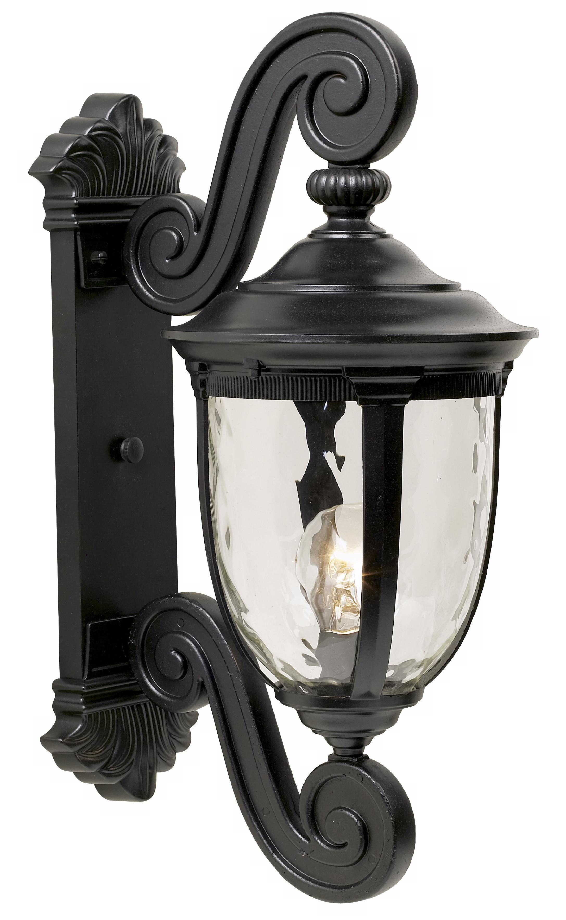 Bellagio 24 High Black Dual Scroll Arm Outdoor Wall Light 37761 Lamps Plus Outdoor Wall Light Fixtures Outdoor Wall Lighting Black Outdoor Wall Lights