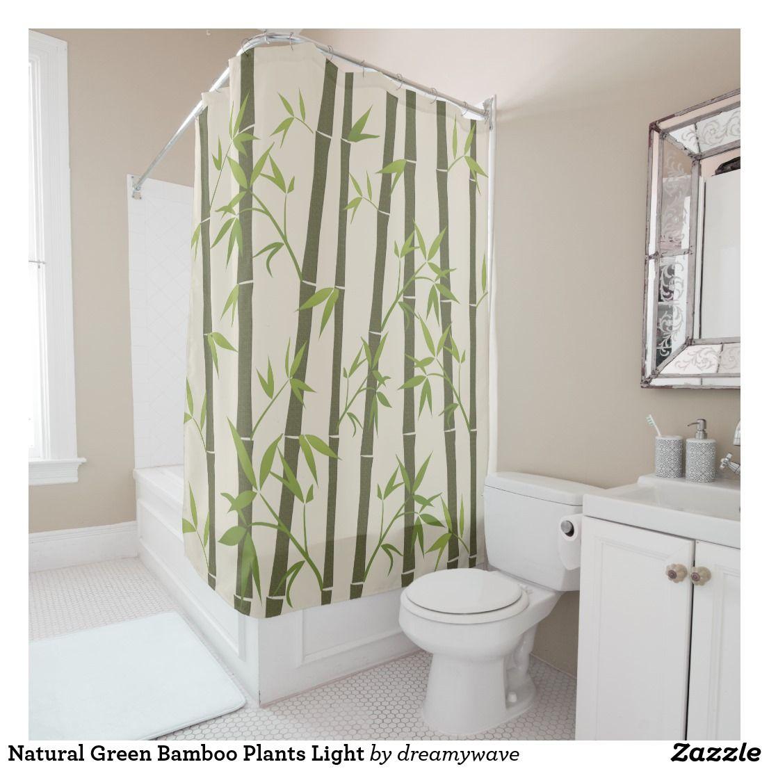Natural Green Bamboo Plants Light Shower Curtain | Zazzle.com