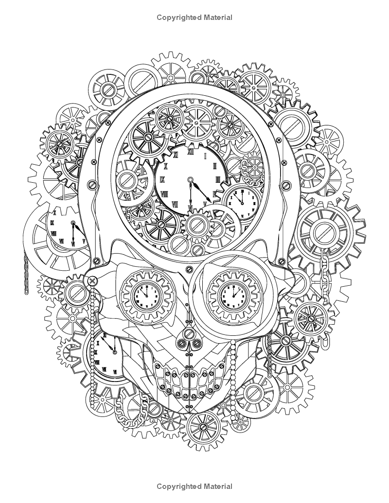 Co coloring book template - Steampunk Coloring Book 1 2 Amazon Co Uk Nick Snels