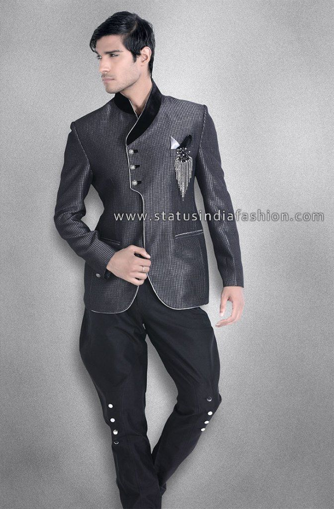 Men New Stylish Party Wear Groom Designer Jodhpuri Wedding Tuxedo ...