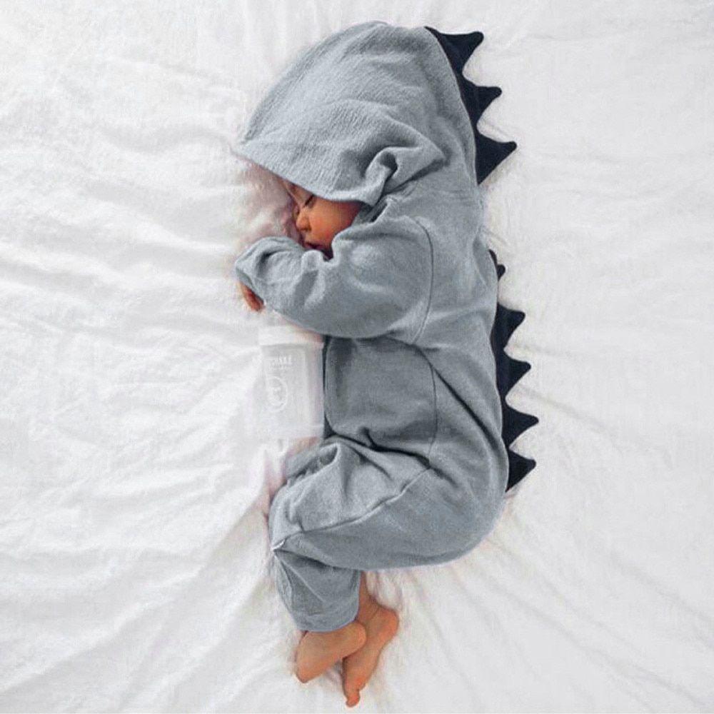 7e461128e Ropa para niños recién nacidos bebé niño niña dinosaurio con capucha ...