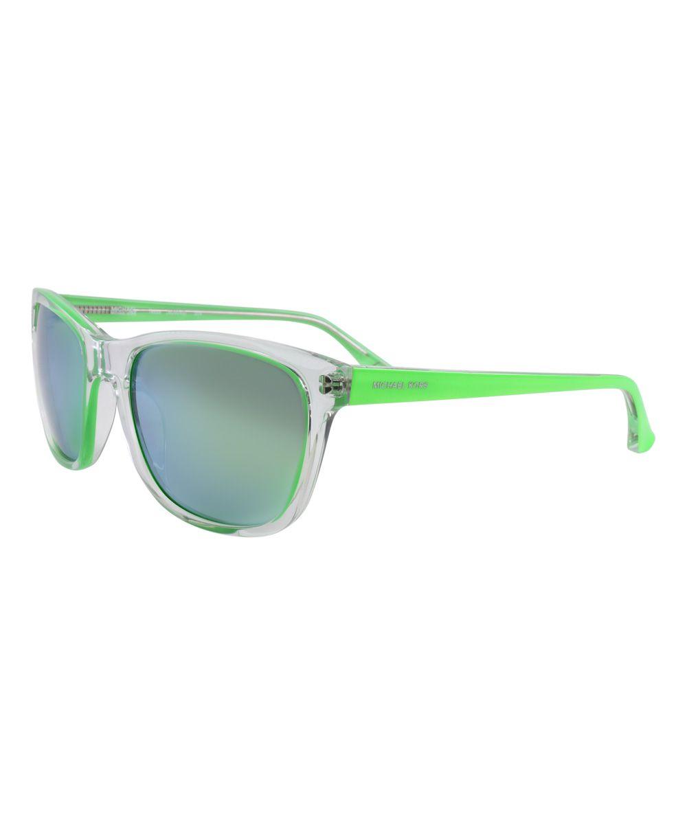 Translucent Green Tessa Sunglasses Sunglasses Glasses Fashion Michael Kors