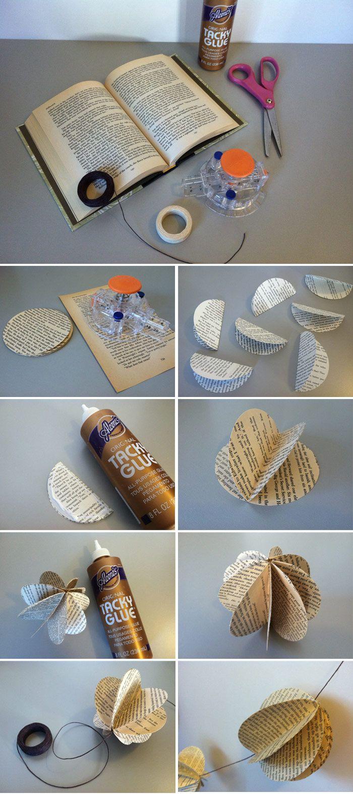 DIY Decorative Book Garland   Jam   Toast. DIY Decorative Book Garland   Jam   Toast   DIY projects
