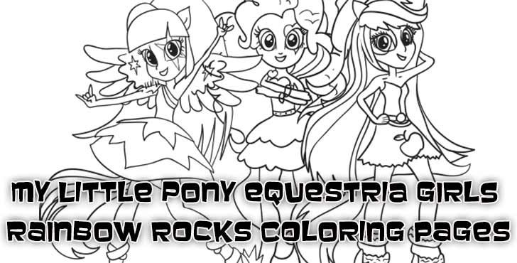 Coloring Pages of My Little Pony Equestria Girls Rainbow Rocks - new coloring pages girl games