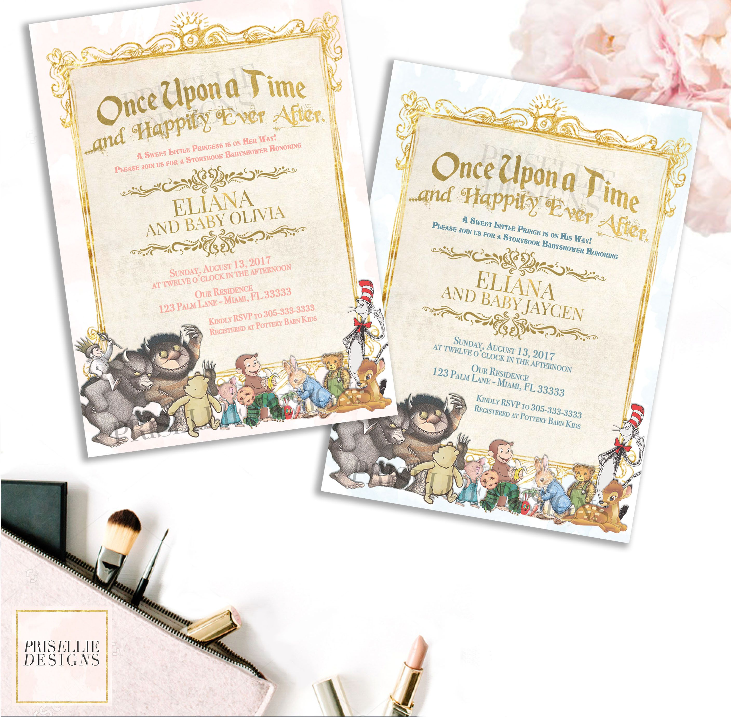 Storybook Baby Shower Invitation, Storybook Invitation, Once Upon A ...