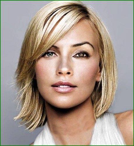 Mittellange Dunne Haare Haarschnitt Frauen Frisuren Haarschnitt