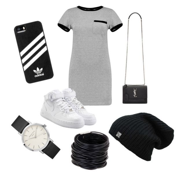 """""""Yes Please!"""" by sbeckman19 ❤ liked on Polyvore featuring MARA, NIKE, Yves Saint Laurent, adidas, Saachi, LoveIt and shirtdress"""