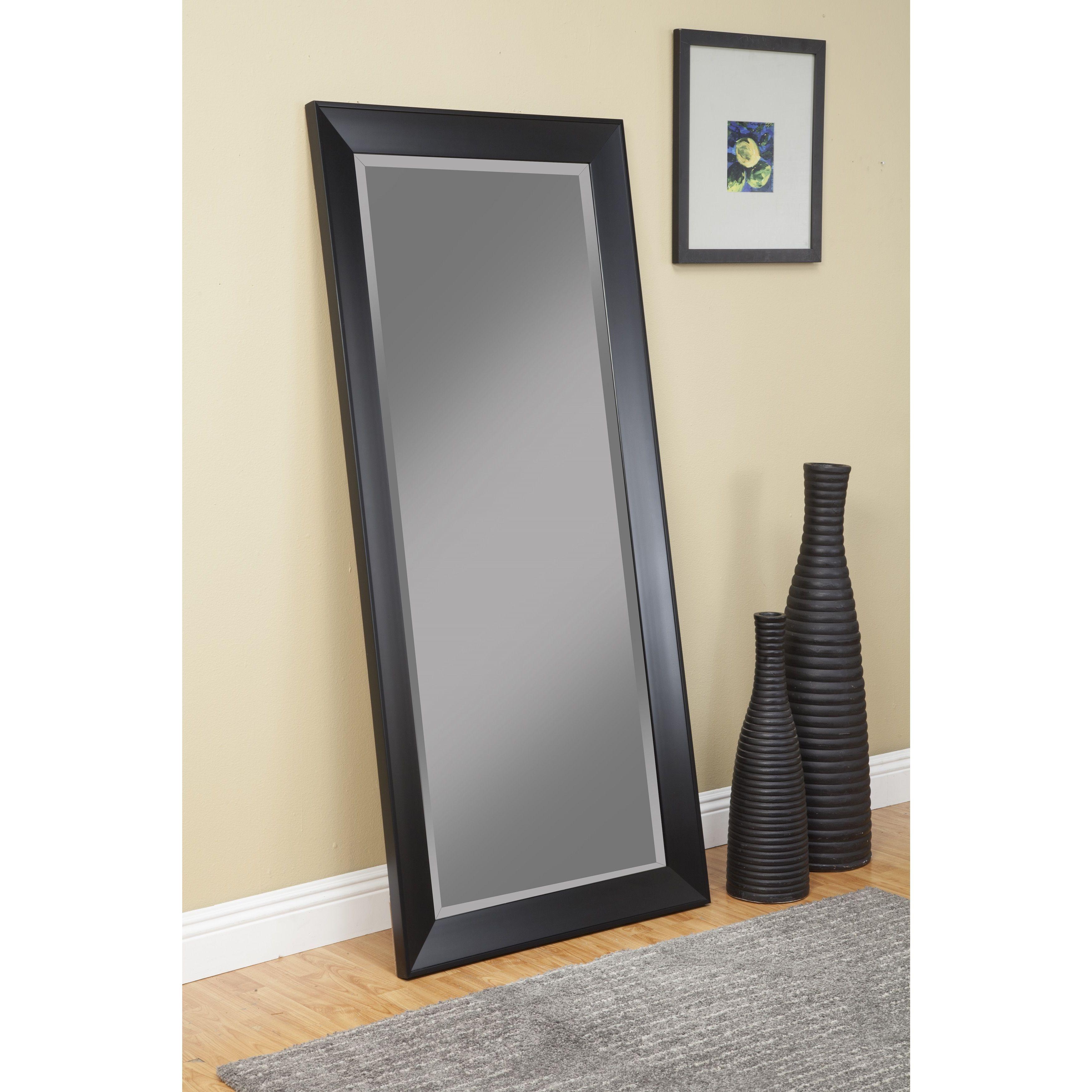 Copper Grove Schilla Black Full Length Leaner Mirror A N