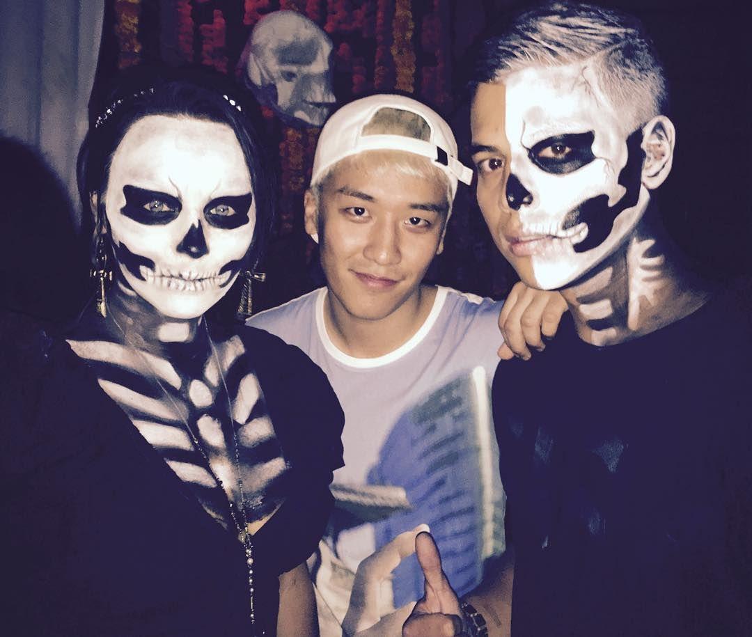Seungri's IG: last night halloween party in indonesia | Big Bang ...