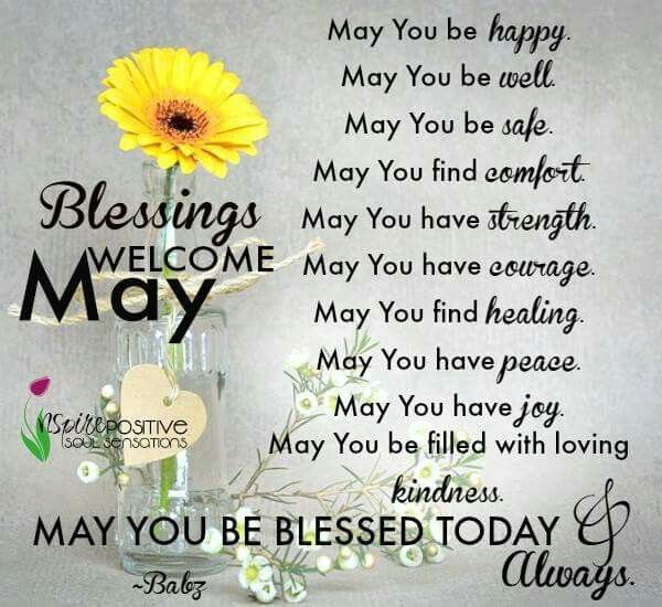 Blessings Welcome May Hello May Quotes May Quotes May Month Quotes
