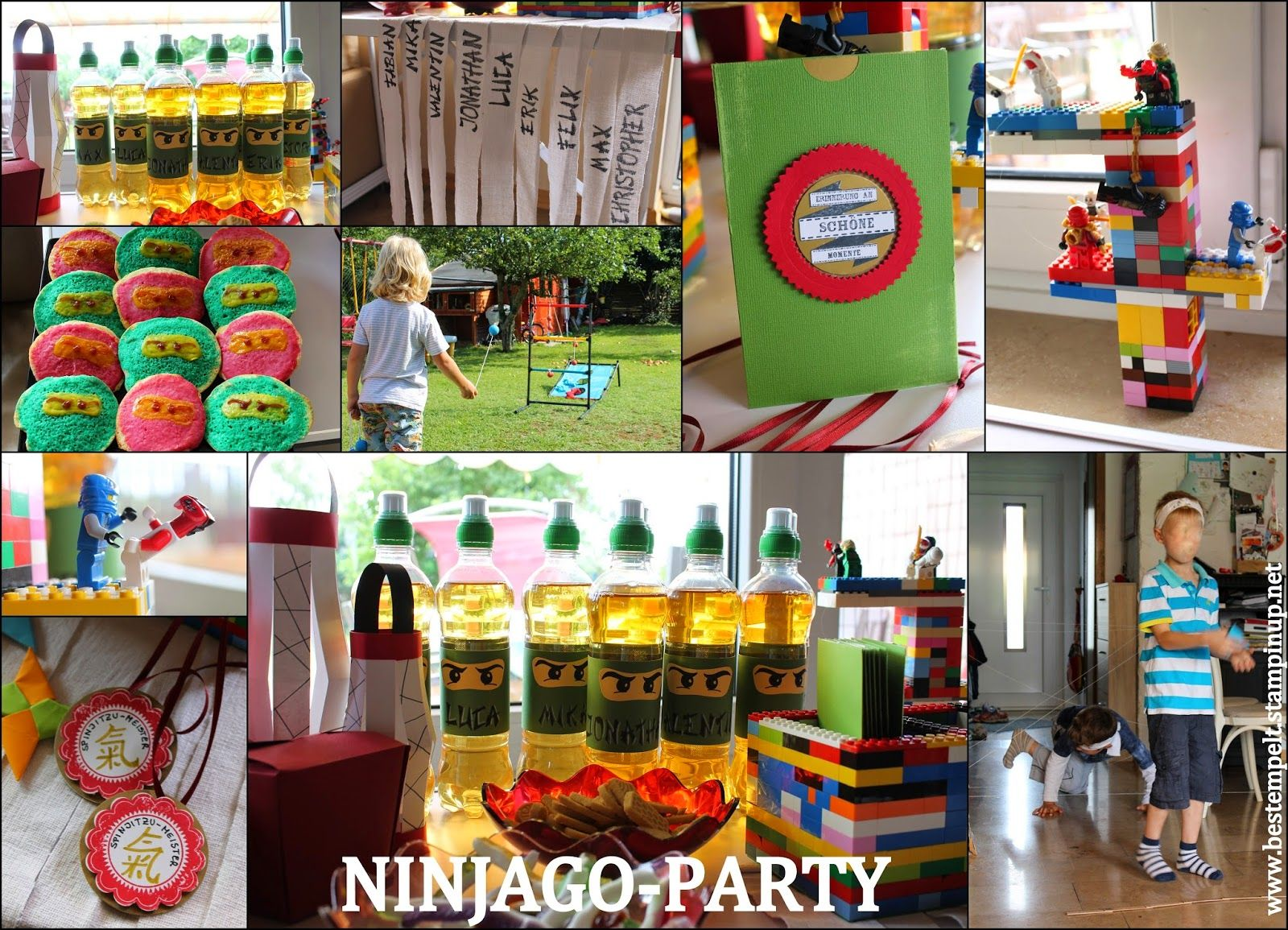 Geburtstagsparty f r ninjas ninjago party lego party for Geburtstagsparty deko