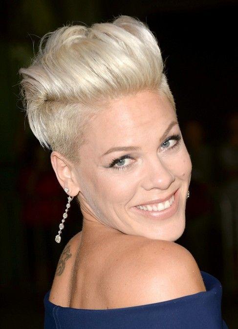 Pink Short Fauxhawk Haircut for Women | Frisuren ...
