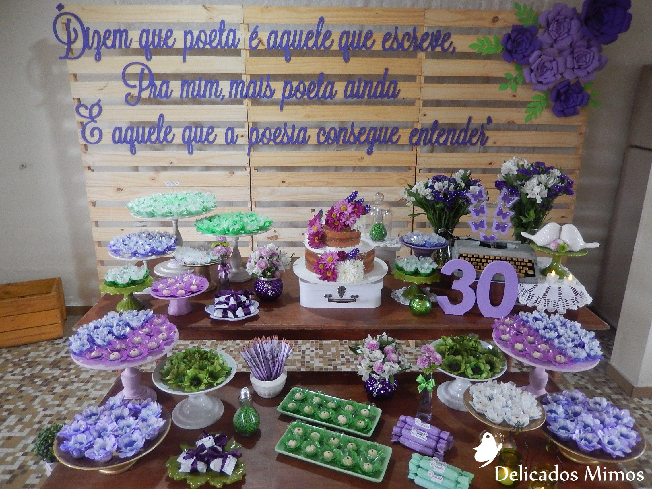 Aniversário 30 anos - Poesia com flores