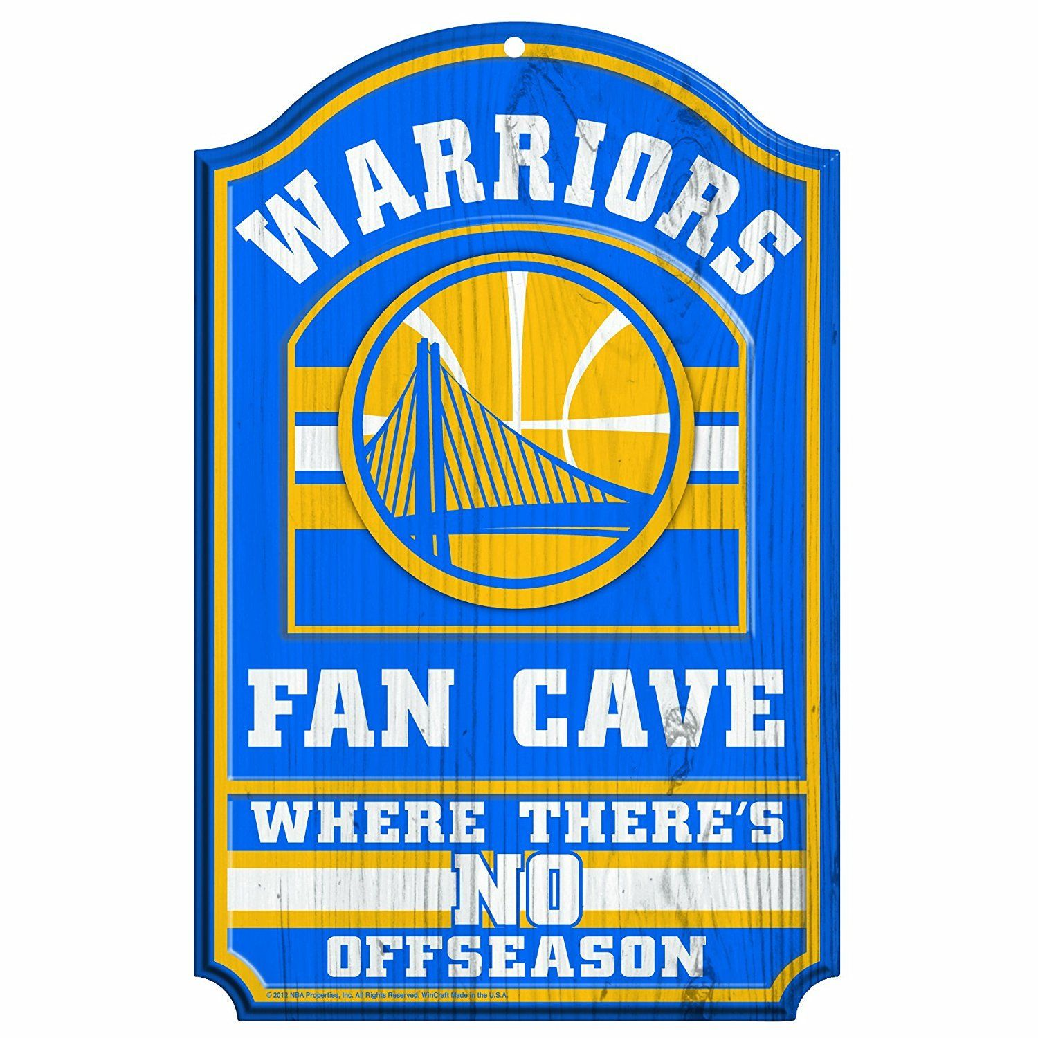 Golden State Warriors No Offseason 11x17 Wood Fan Sign Golden State Warriors Bedroom Fan Cave Golden State Warriors