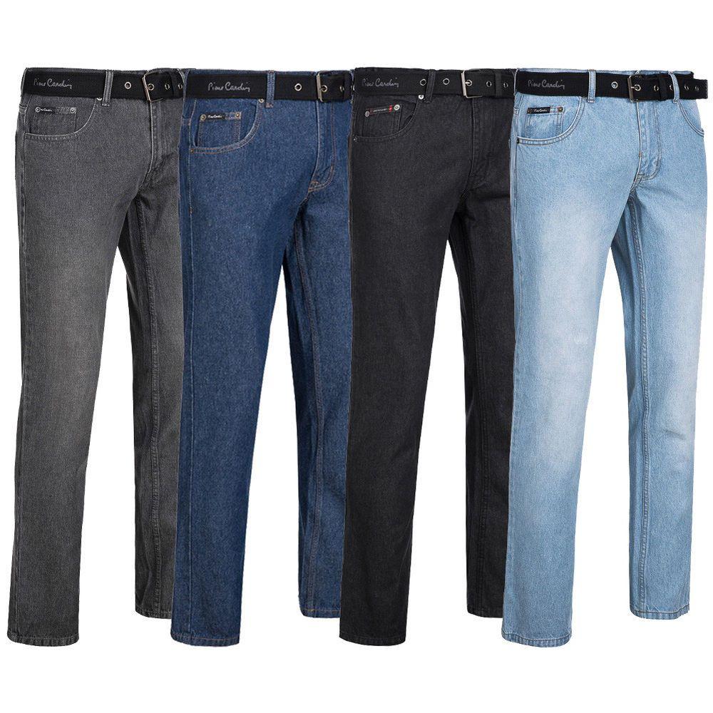 Jeans Denim Pierre Cardin Straight Fit Mens Trouser Pants