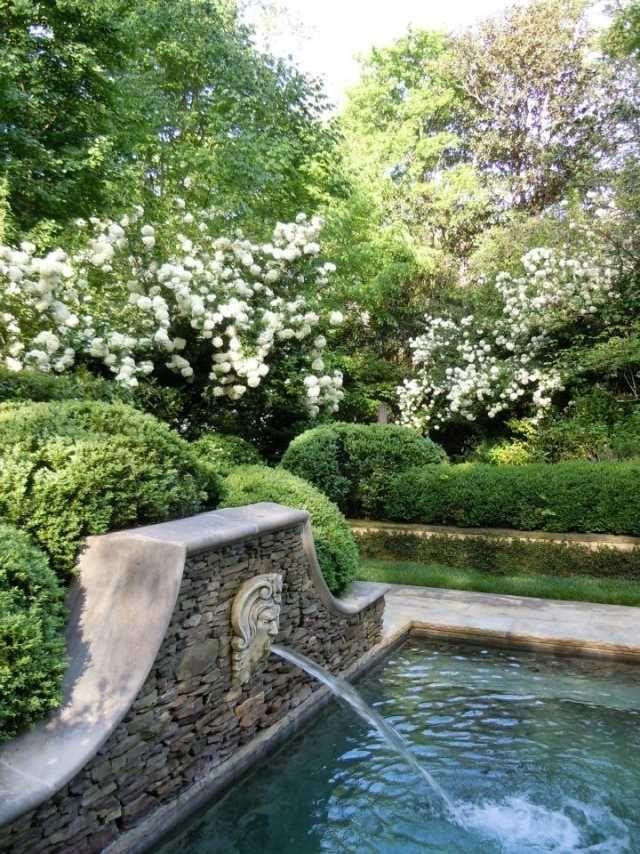Wassergarten Schwimmbecken Gartenteich-mit Brunnen-Naturstein - bilder gartenteiche mit bachlauf