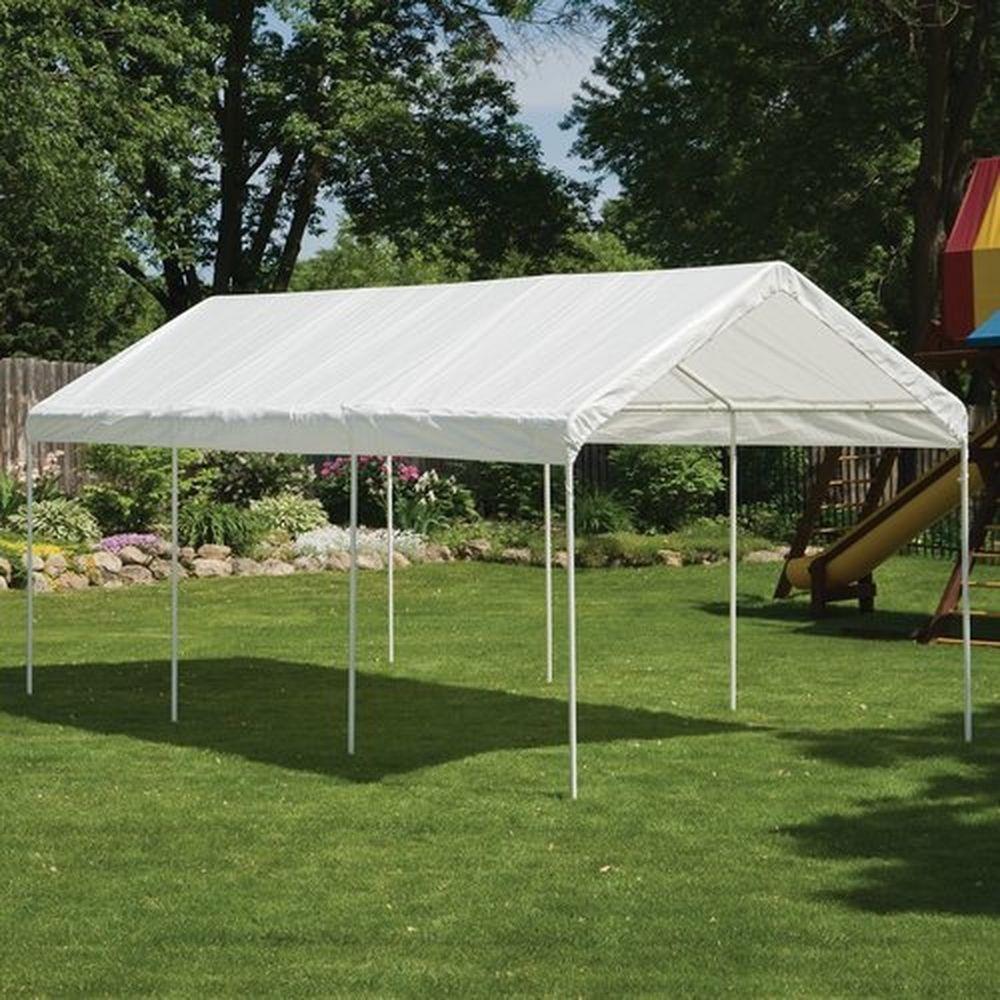 10u0027 x 20u0027 White All Purpose Canopy Tent Shade Shelter For C&ing Backyard Event & 10u0027 x 20u0027 White All Purpose Canopy Tent Shade Shelter For Camping ...